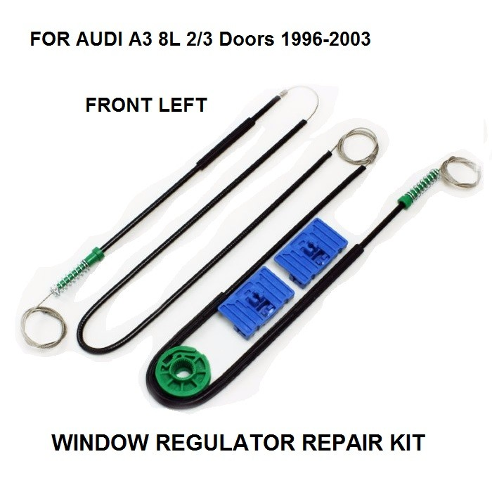 1996 2004 CAR WINDOW CABLE FOR AUDI A3 8L 3 DOOR ELECTRIC WINDOW REGULATOR REPAIR KIT FRONT   LEFT OE#8L3837461|Window Lever & Window Winding Handles| |  - title=