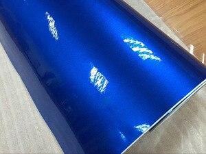 Image 2 - ملصق سيارة لامع لامع أزرق عالي الجودة 10/20/30/40/50/60X152CM/لوط للسيارة يلتف بشكل لامع من الفينيل