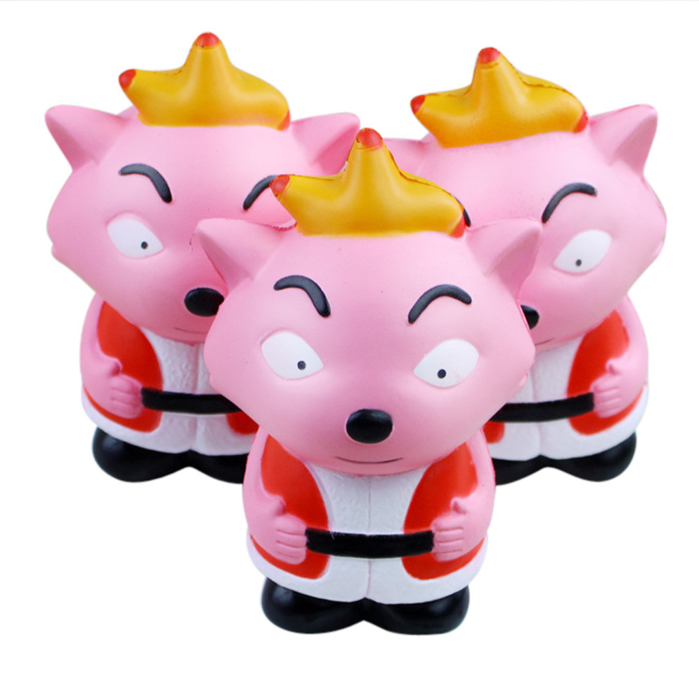 Red Wolf Slow Rising Squeeze Toy Stress Relief Novelty Fun Toys Gift For Children Cartoon Unzip Anti-stress Gift #B