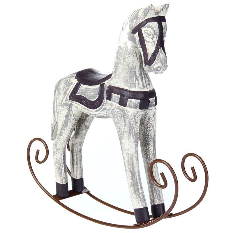 New Modern Europe Style Trojan Horse Statue Wedding Decor Wood Horse Retro Home Decoration Accessories Rocking Horse Ornament Gi|Figurines & Miniatures| |  - title=