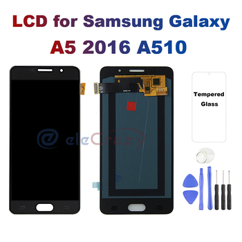 цена на AMOLED for SAMSUNG Galaxy A5 2016A510 A510F A510M SM-A510F LCD Display Touch Screen Digitizer Assembly Replacement 100% Testing