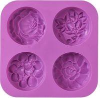 Blume Silikon Seife Formen, Hausgemachte Seife Form, Muffin, Pudding, Gelee, Brownie und Käsekuchen