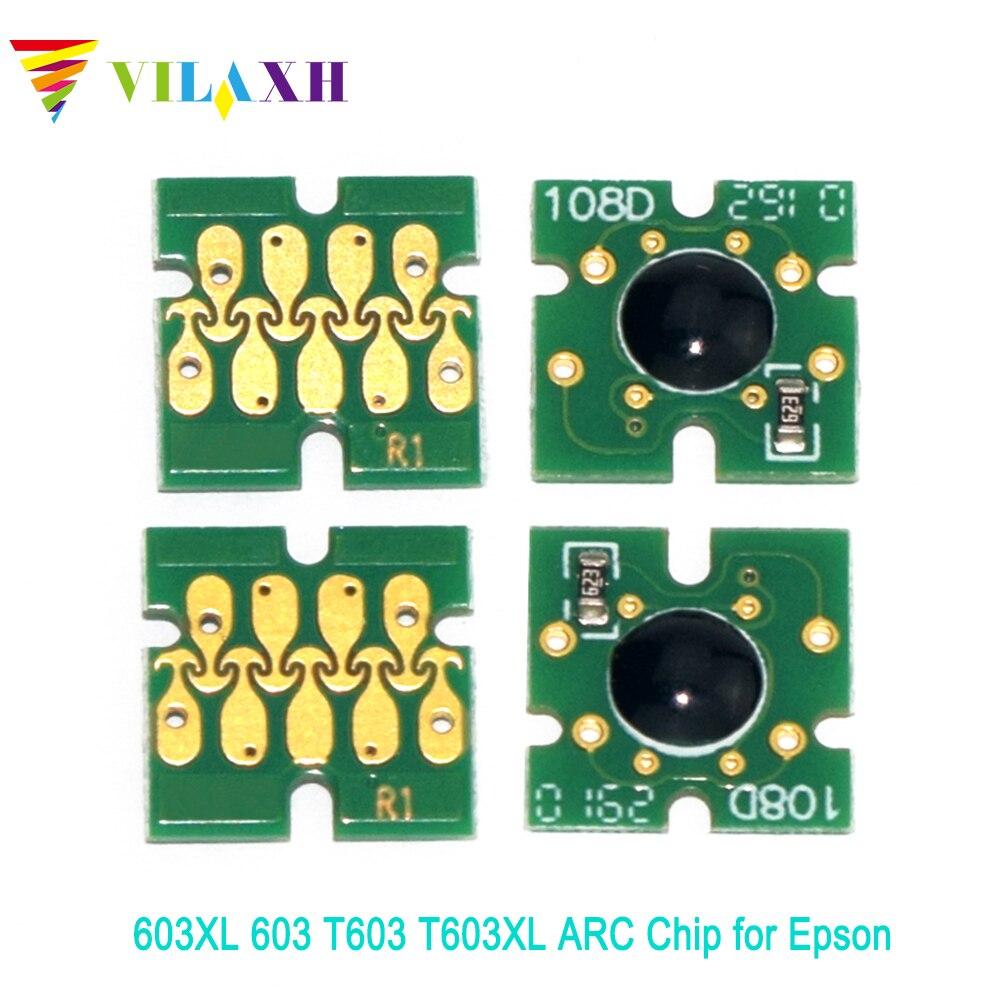 Vilaxh 603XL 603 T603 T603XL ARC Chip for Epson XP-2100 XP-2105 XP-3100 XP-3105 XP-4100 XP-4105 WF-2810 WF-2830 WF-2850 WF-2835