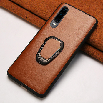 Genuine Cowhide Leather Magnetic Kickstand phone case for Huawei P30 Lite P20 P40 Pro Mate 20 Cover For Honor 20 Pro 10 10i 8X