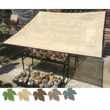 Sunshade Net Succulents Green Plants Sunscreen Net Balcony Terrace Garden Sun Shade Shade Awnings Sun Shade Net Supplies capsicum cultivation under shade net