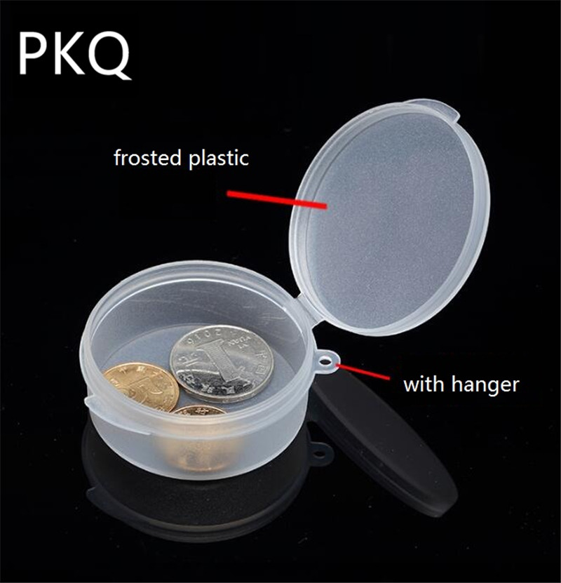 10pcs/lot New PP Transparent Box Round Plastic Boxes Jewelry Parts Element Small Box <font><b>25ml</b></font> Clear Storage Boxes Pill <font><b>Containers</b></font> image