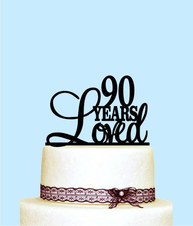 Fine Cheap Product M4Unl 90 Years Loved Cake Topper 90Th Birthday Personalised Birthday Cards Veneteletsinfo