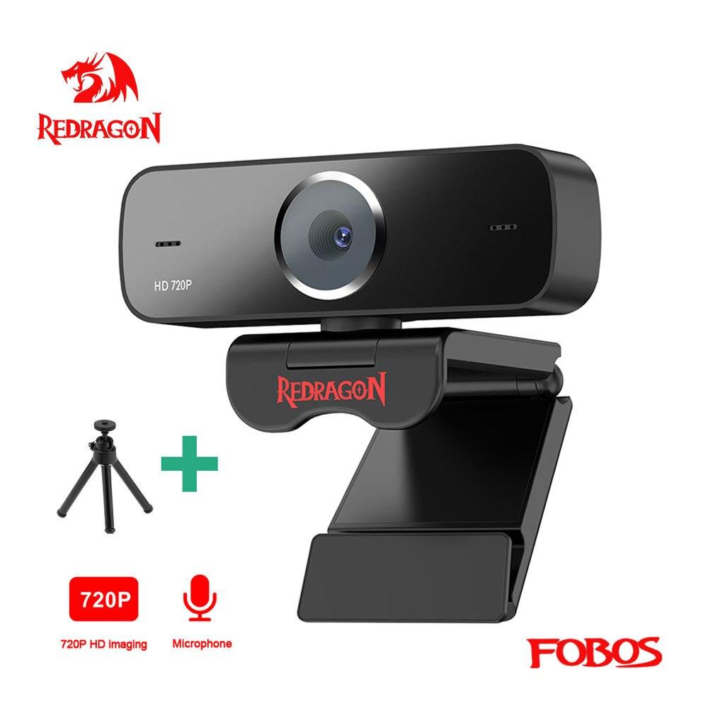 REDRAGON GW600 Fobos USB HD Webcam Built-in Microphone Smart 1280 X 720P 30fps Web Cam Camera for Desktop Laptops PC Game