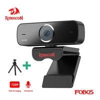 REDRAGON GW600 Fobos USB HD-Webcam Eingebautes Mikrofon Smart 1280 X 720P 30fps Web-Cam-Kamera für Desktop-Laptops PC-Spiel
