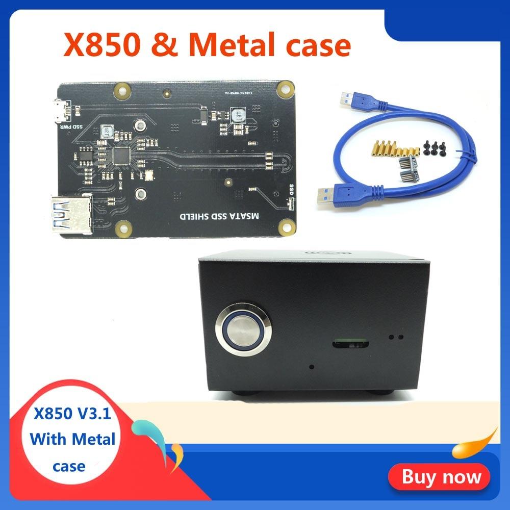 Raspberry Pi MSATA SSD Storage Expansion Board X850 V3.1 USB 3.0 Extansion Board Module For Raspberry Pi 3 Model B+(Plus)/3B/2B