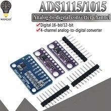 16 bit i2c ads1115 ads1015 módulo adc 4 canal com pro amplificador de ganho 2.0v a 5.5v para arduino rpi