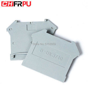 D-3-16 UK3 5 6 10 16 Terminal Block End Cover Plate Din Rail Terminal Blocks accessories image