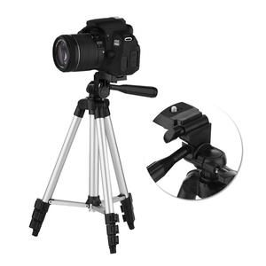 Image 2 - 4 Sections DSLR Camera Tripod Stand Mini Protable Tripod with Phone Mount Holder for LED Light Action Camera Mobile Phone Tripod