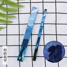 10 sztuk Anime twoje imię długopis żelowy film Miyamizu Mitsuha Tachibana Taki długopis 0.5 czarne długopisy do napełniania