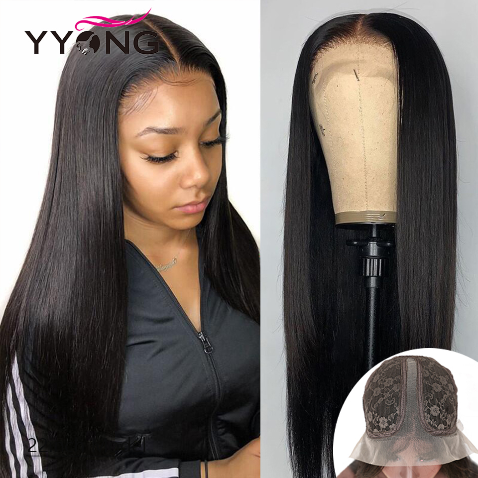 YYong  Straight 1x4 & 1x6 T Part HD Transparent Lace Part Wigs  Wig With Natural Hairline 120 30 32inch 1