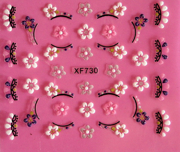 XF 5D Relief Nail Sticker Stereo Nail Sticker XF730