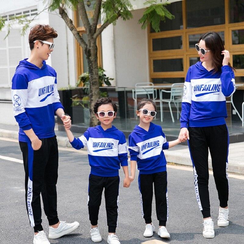 Vêtements assortis printemps pour famille | Usine, vente directe, ensembles de vêtements de sport, tenues de parents et d'enfants, chandails, 2020