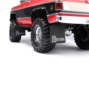 Guardabarros con soporte de Metal guardabarros de goma guardabarros delantero y trasero para TRX4 BLAZER K5 piezas mejoradas