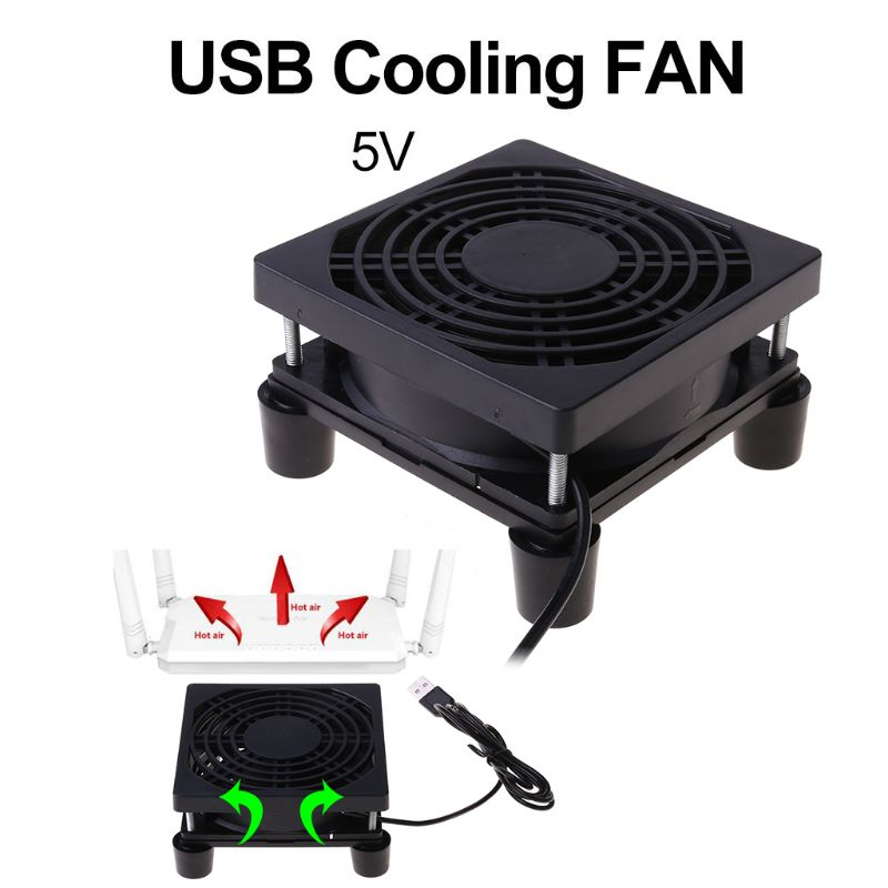 Cooling <font><b>Fan</b></font> DC <font><b>5V</b></font> <font><b>USB</b></font> Power Supply Quiet <font><b>Fan</b></font> for Router TV Set-Top Box Radiator Cooler DIY Repair Parts 9cm/12cm image