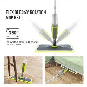 Image 3 - Magic Spray Mopชั้นไม้Reusableแผ่นไมโครไฟเบอร์360องศาบ้านWindowsห้องครัวMop Sweeperไม้กวาดเครื่องมือทำความสะอาด