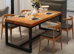 Скандинавский стол из цельного дерева, обеденный стол, стол для приема, длинный стол, повседневный современный стол для конференций
