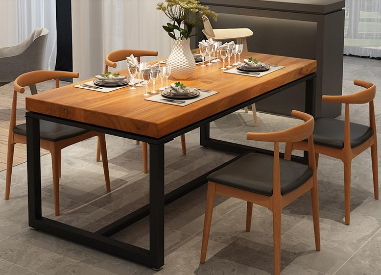Nordic Solid Wood Negotiation Dining Table Desk Reception Table Long Table Casual Modern Conference Table