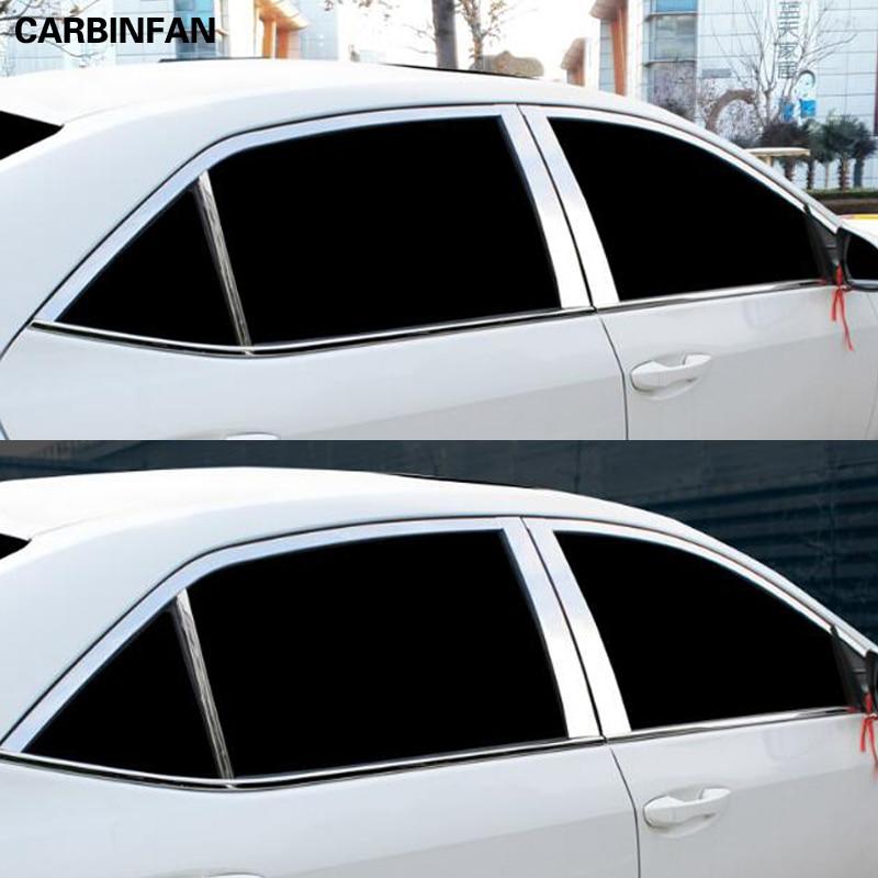 Стайлинг автомобиля окна автомобиля планки Крышка для toyota corolla 2013 2014 2015 2016 2017 2018 E170|Хромирование|   | АлиЭкспресс