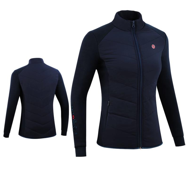e outono feminino casaco de golfe à