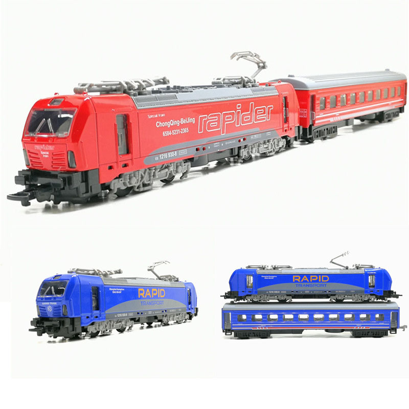 1/32 Alloy Double-section Tram Model Pull Back Locomotive Model Toys Car Music Light Children Toy(China)