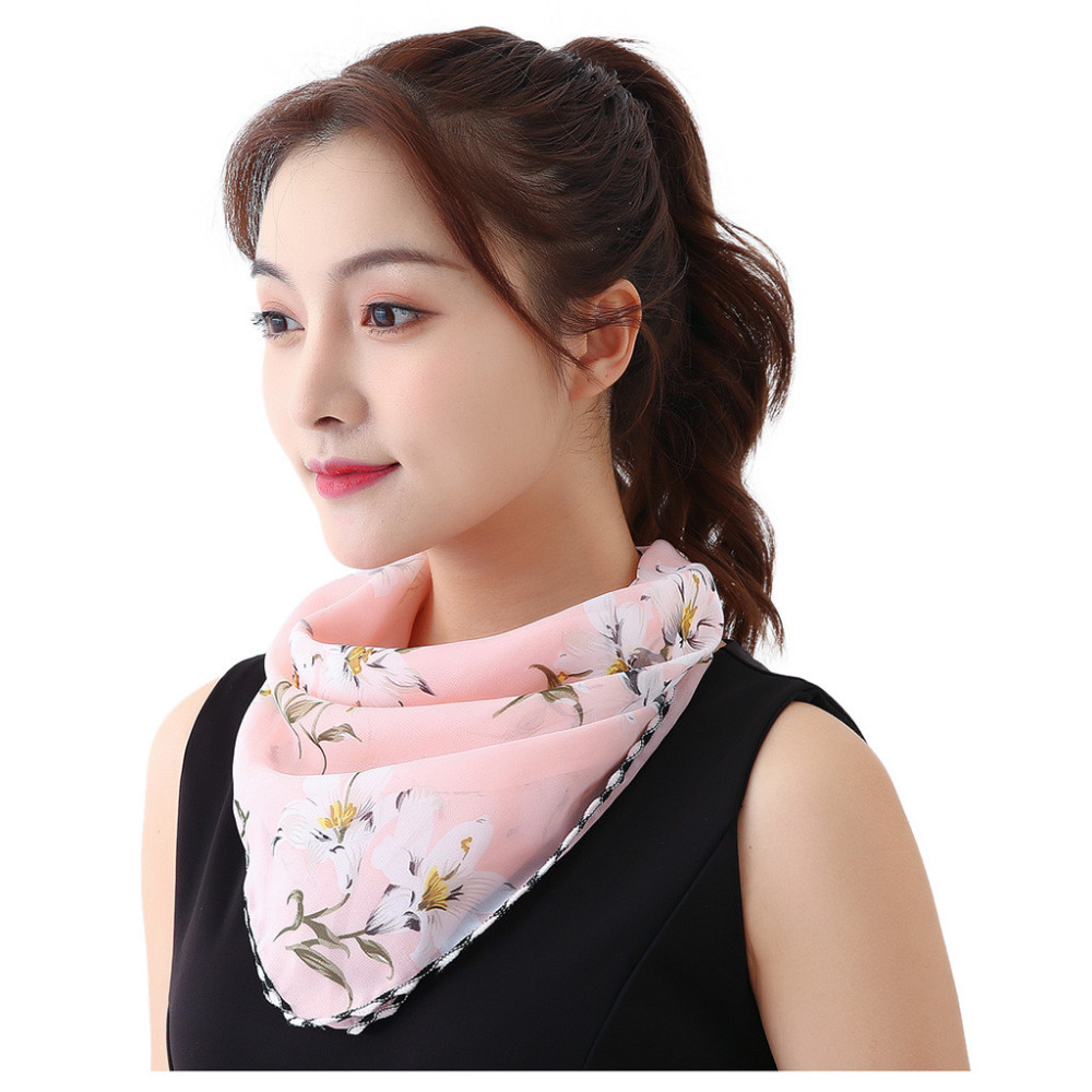 Women's Protective Washable Cotton Scarf Mask 15