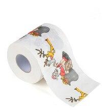 Санта-Клаус, олень, Рождественская туалетная бумага для кухни, Забавный мультяшный принт, туалетная бумага, новогодние подарки, рождественские украшения