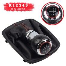 5 6 botão do deslocamento de engrenagem do carro do shifter da velocidade konb com capa de bota para audi a4 b6 8e 2000 2004 a6 c5 4b 1997 2005