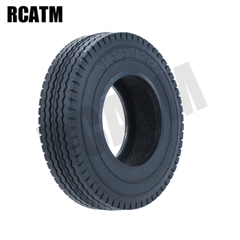 2PCS Rubber Road Tire Tyre 20mm with Liner for 1/14 Tamiya RC Truck Trailer Man Scania Actros Volvo R620 FH12 FH16 3363 1851 image