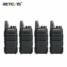 RETEVIS RT22 RT622 Rechargeable Walkie Talkie 4pcs PMR Radio PMR446 VOX Two Way Radio Portable Walkie talkies Hotel Restaurant
