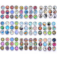 10pcs/lot Tree Life Glass 12mm Snap Button Jewelry Fit Bracelet Earrings Necklace snap buttons for button jewelry