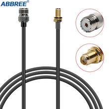 ABBREE szynki Adapter anteny radiowej RG58 współosiowy przewód łączący do UHF SO239 kobiet dla Baofeng UV-S9 PLUS UV-5R UV-82 BF-888S tanie tanio CABLE CN (pochodzenie) Tactical Antenna SMA-Male Coaxial Extend Cable 60CM 100CM RG58 Coaxial Cable