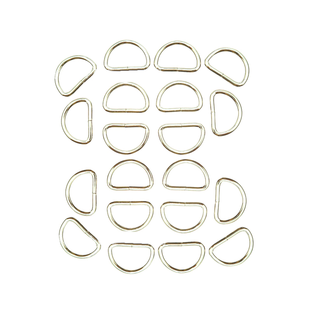20pcs For Straps Bags Purses Belting Accessories Metal Belts Buckle Loop D Ring