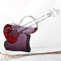 1000 мл креативный винный стеклянный графин креативный скрипка моделирование Графин красное Вино Виски Стекло для бара кухни лучший рождест...
