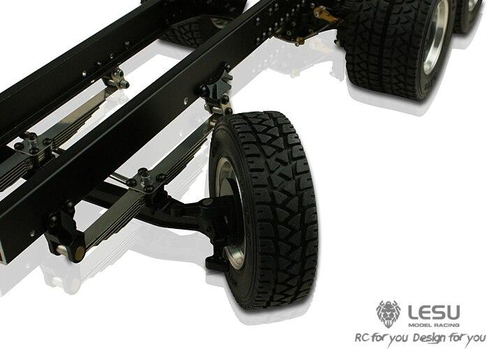 LESU Narrow Tire for 1//16 RC Tractor Truck Wheel Hub Axle Dumper Model