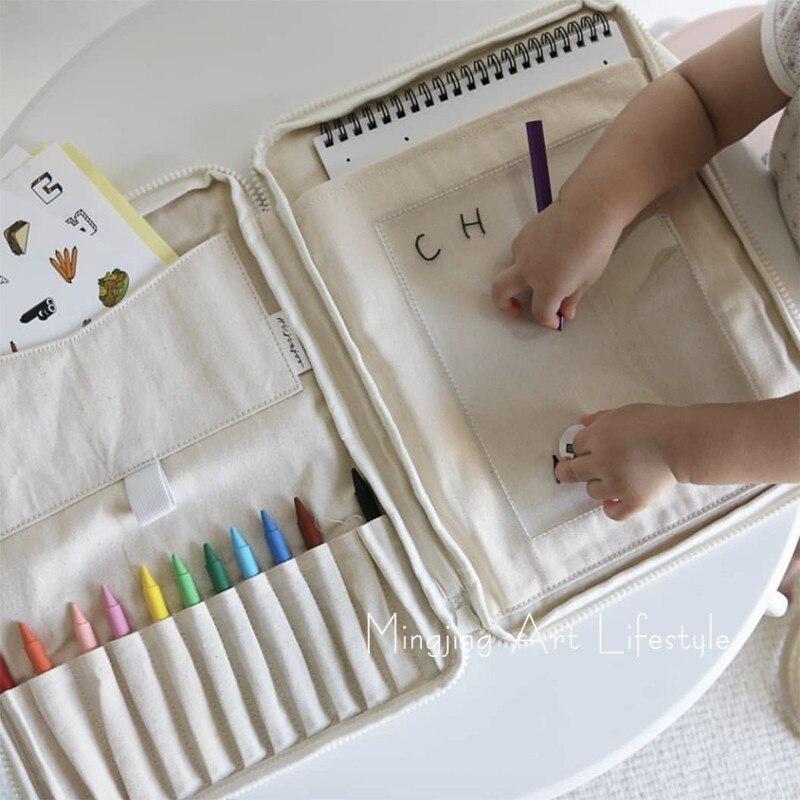 Baby Brush Storage Bag Crayon Bag Crayon  Toy Storage Organizing Bag Pen Case