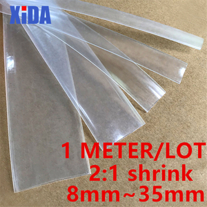 1 Meter 2:1 8MM 10MM 12MM 14MM 16MM 18MM 20MM 40MM Transparent Clear Heat Shrink Tube Shrinkable Tubing Sleeving Wrap Wire kits(China)