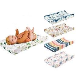 Elasticidade do bebê mudando almofada capa floral impressão cabida berço folha infantil ou da criança cama do berçário unissex fralda mudança folha de mesa