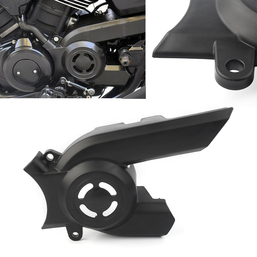 Universal Motorcycle Front Pulley Sprocket Cover For 2015 Harley Davidson XG 750 <font><b>XG750</b></font> <font><b>Street</b></font> Black ABS Plastic image