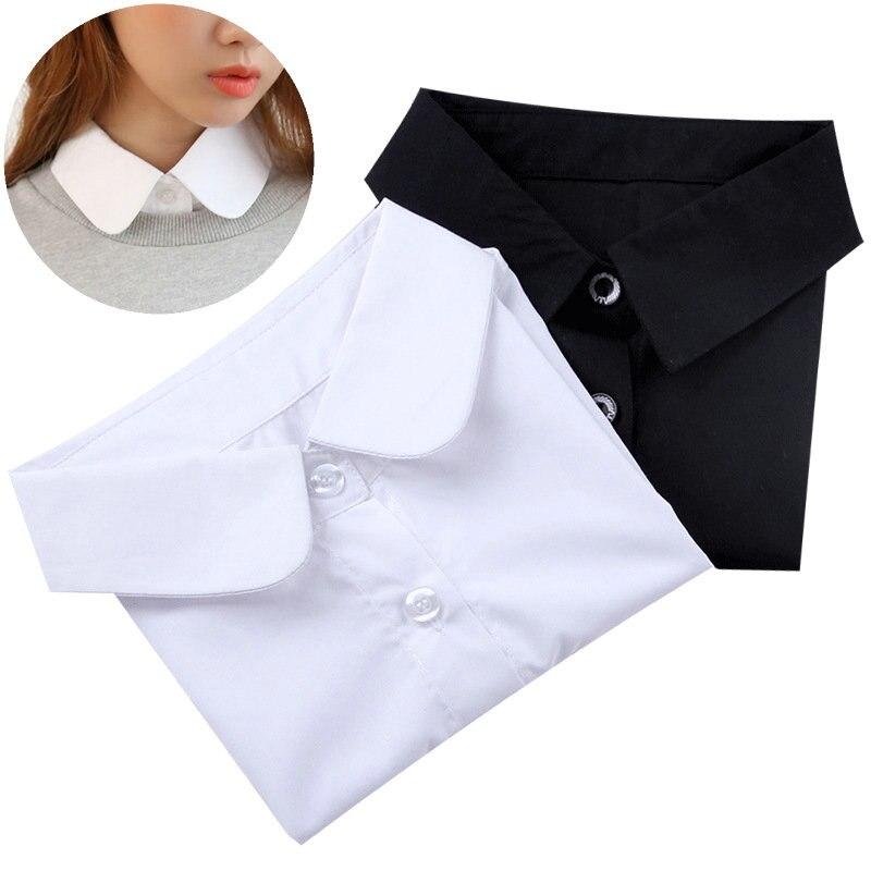 Lady Lace Fake Collar Detachable Necklace Shirt Lapel Fake False Collar Lapel Blouse Top Women Clothes Accessories