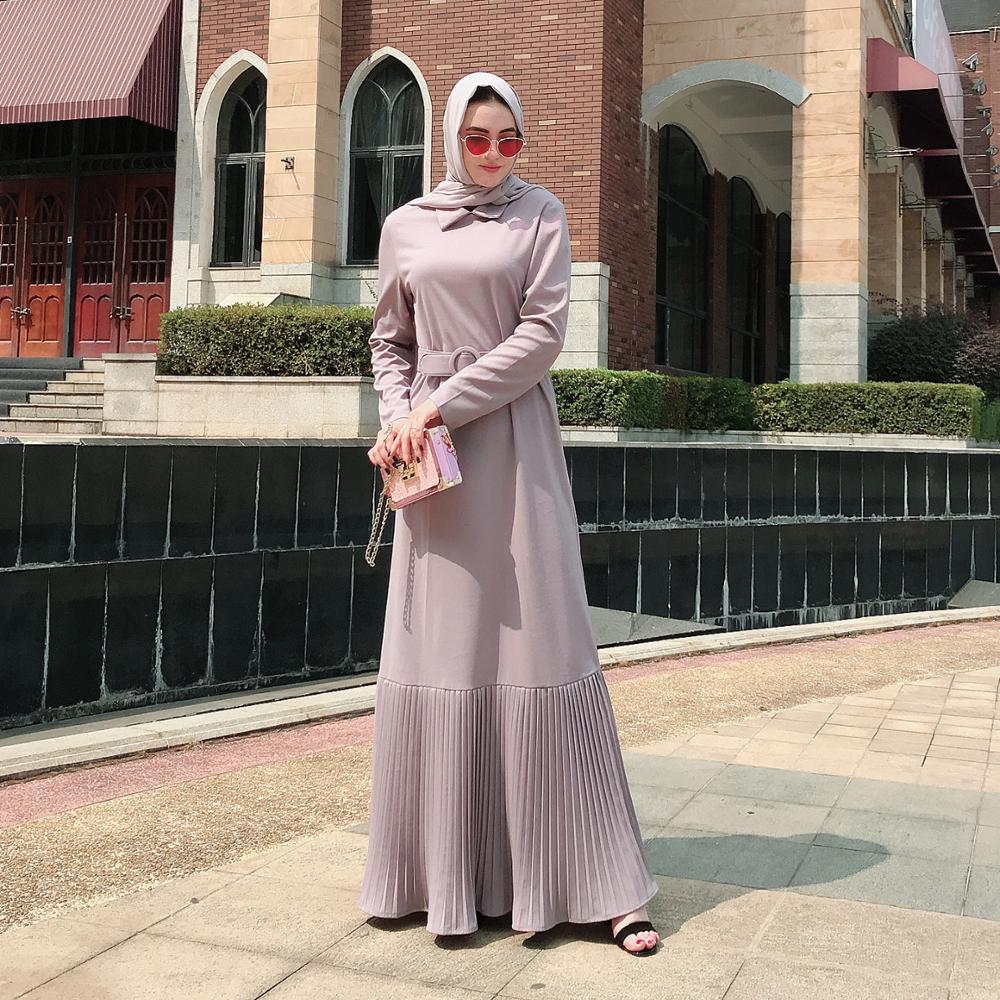 Women Evening Hijab Dresses Kaftan Turkey Islamic Clothing Caftan Kleding Pleated Abaya Dubai Turkish Muslim Dress Abayas