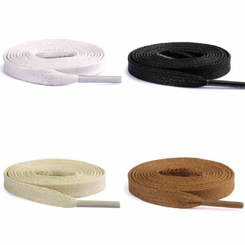 1 par de zapatos casuales para correr de 100CM con cordones encerados planos duraderos zapatos de cuero impermeables Unisex botas longitud de cordones