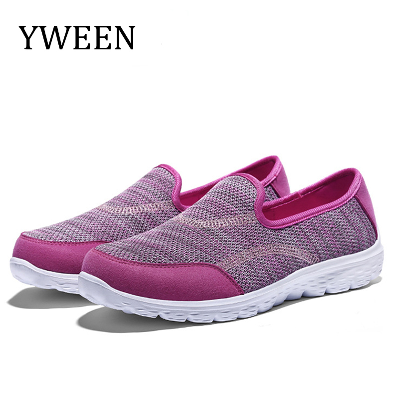 YWEEN New women walking shoes non-slip Women Casual shoes spring and autumn Slip on Soft  Flats shoes women  Zapatos De Mujer