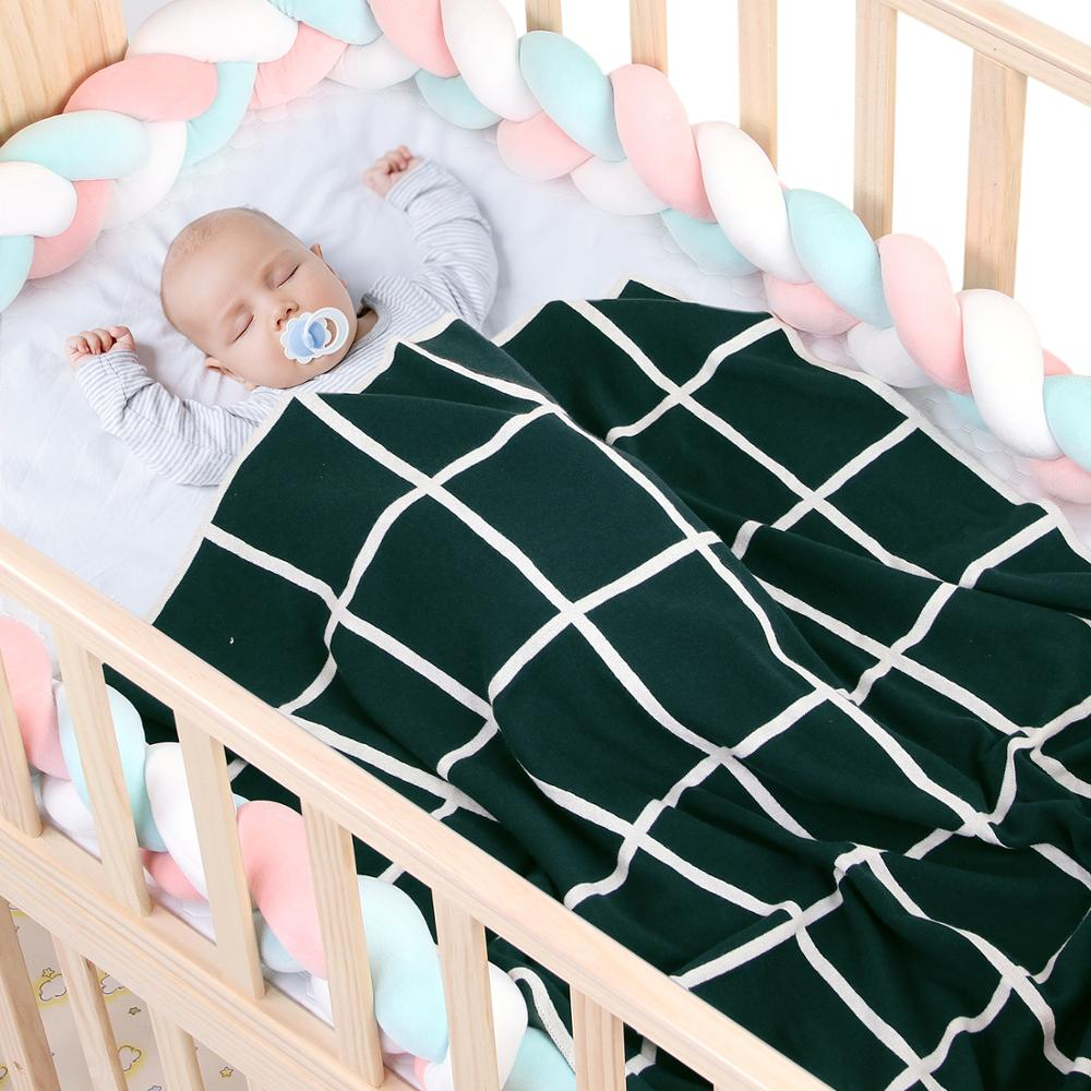 Baby Blankets Soft Knitted Newborn Swaddle Wrap 100*80cm Infant Toddler Sofa Bed Quilt Kids Photography Accessory Stroller Cover