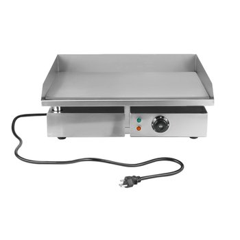 Commercial Electric Grill 1500W Electric Food Oven Stainless Steel Restaurant BBQ Grill Desktop Steak Machine US Plug