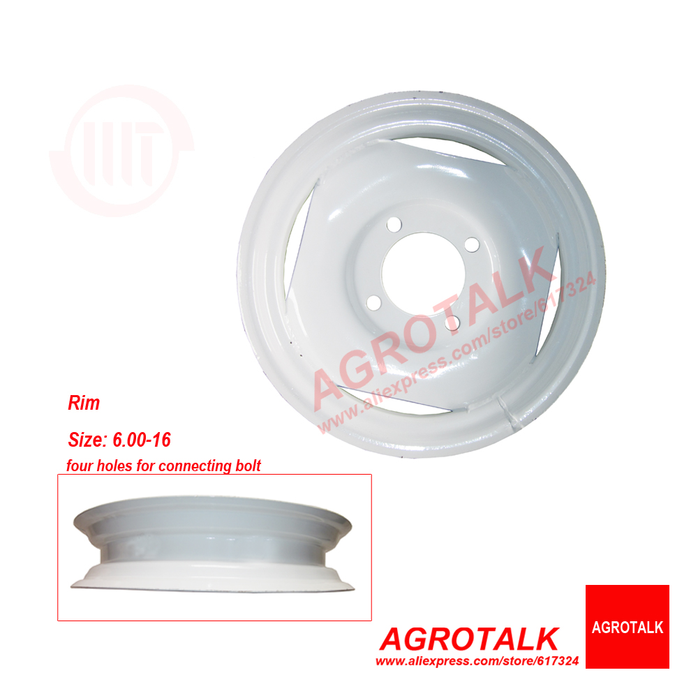 The front rim 6.00-16 for Weituo TY180 series tractor, size of the tyre 6.00-16